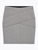 Paneled bodycon skirt
