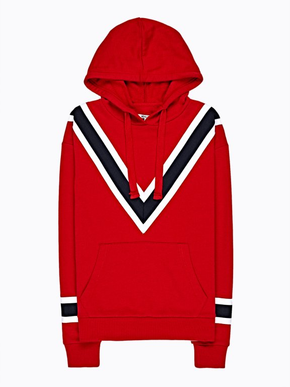 Hoodie with stripe details