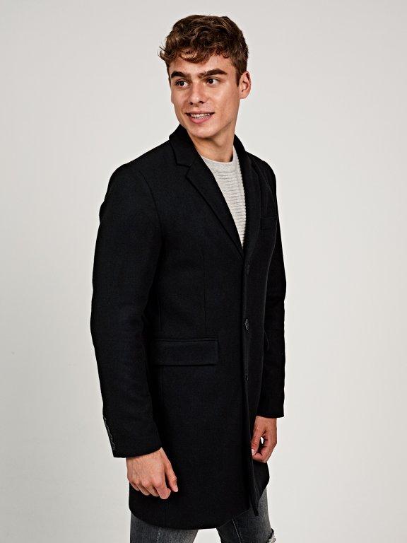 Longline plain coat