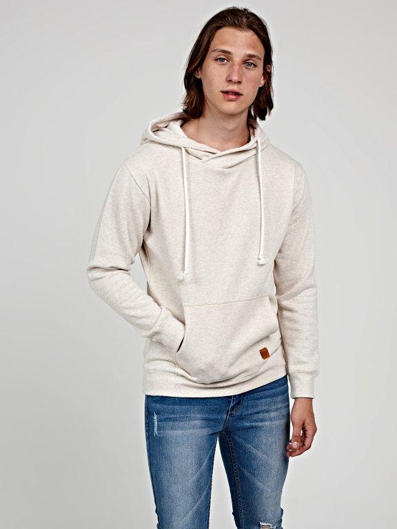 Hoodie with kangaroo pocket