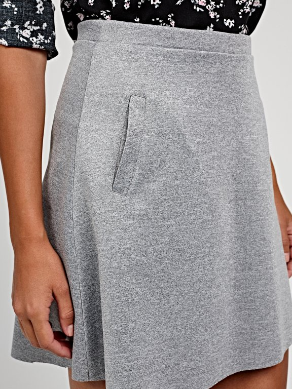 Mini skater skirt with pockets