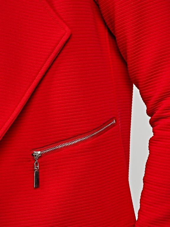 Crop blazer with zippers