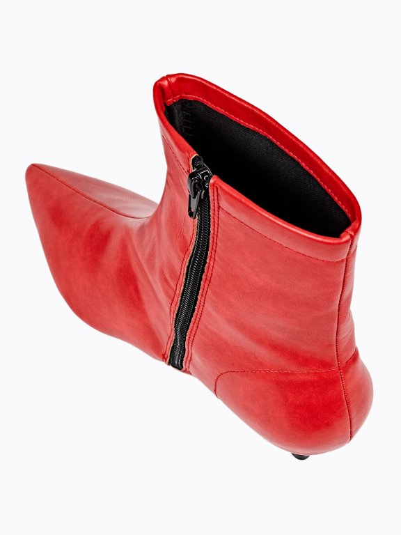 Mid heel ankle boots