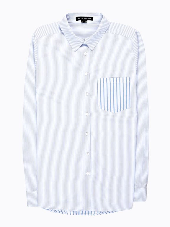 Striped shirt with chest pocket