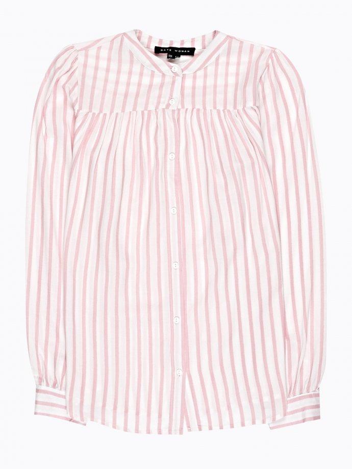 Striped viscose blouse