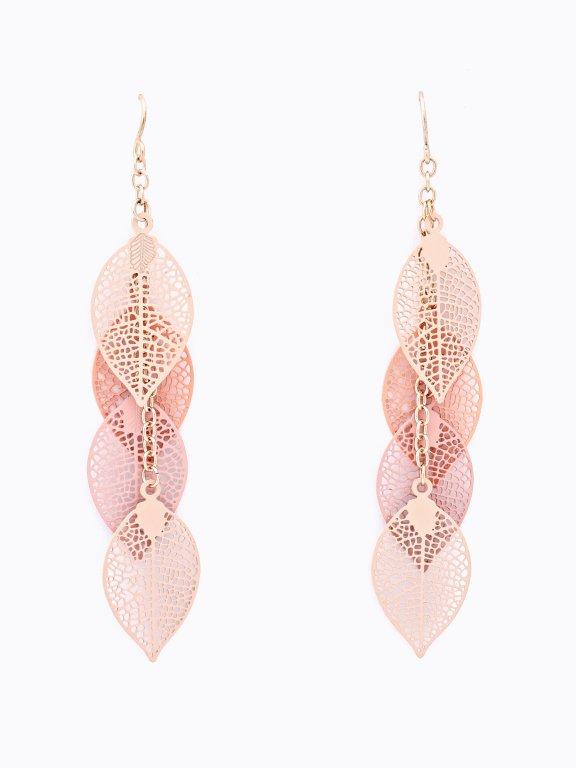 Leaf pendants earrings