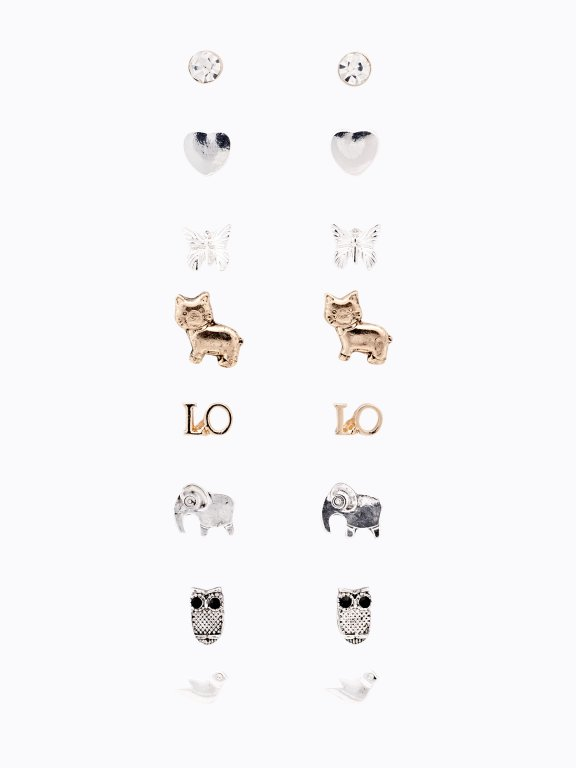 8-pack earrings set