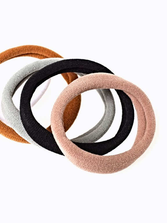 5-pack basic rubber bands set