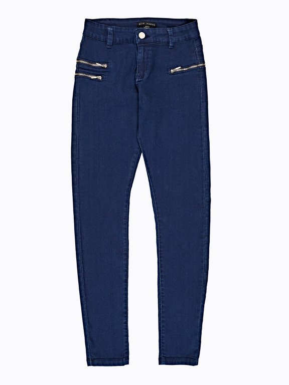 Skinny trousers with zippers