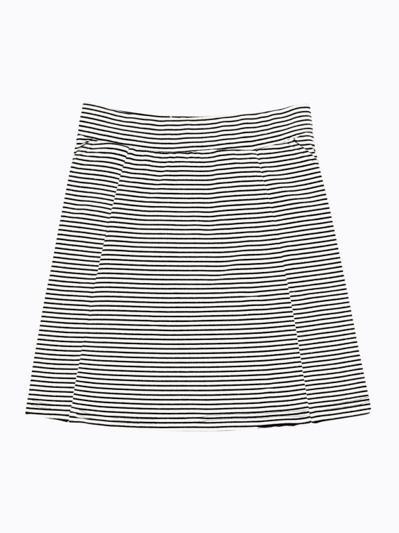 Striped skater skirt with pockets