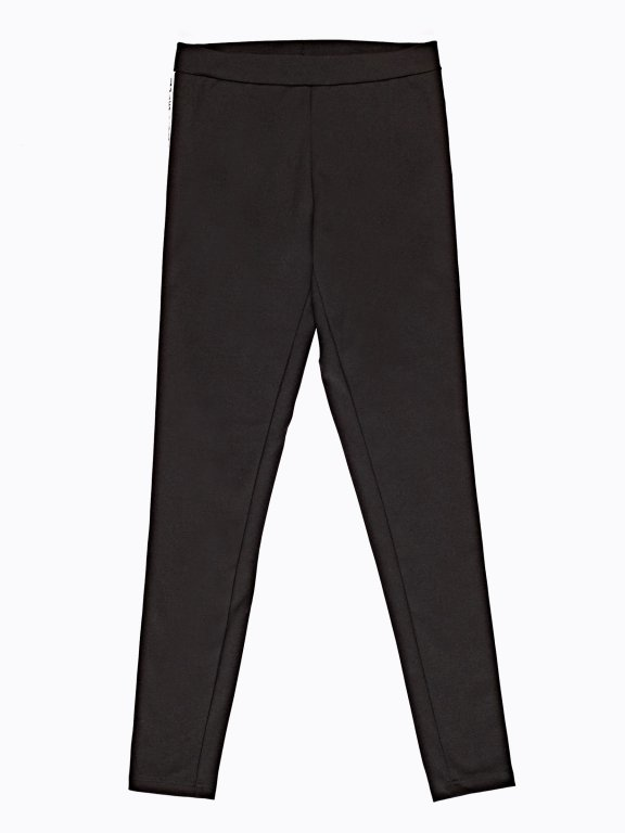 Leggings with printed side tape