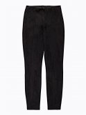 Faux suede slim trousers