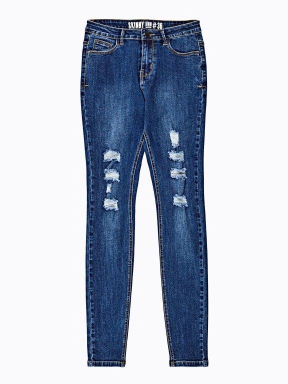 Damaged skinny jeans