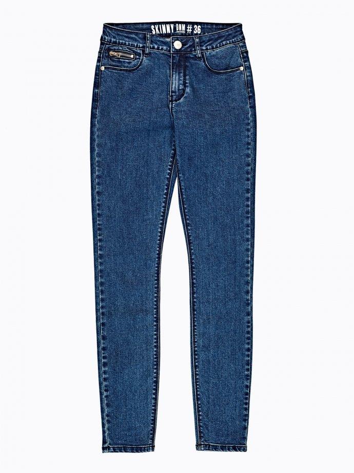 Skinny jeans in dark blue wash