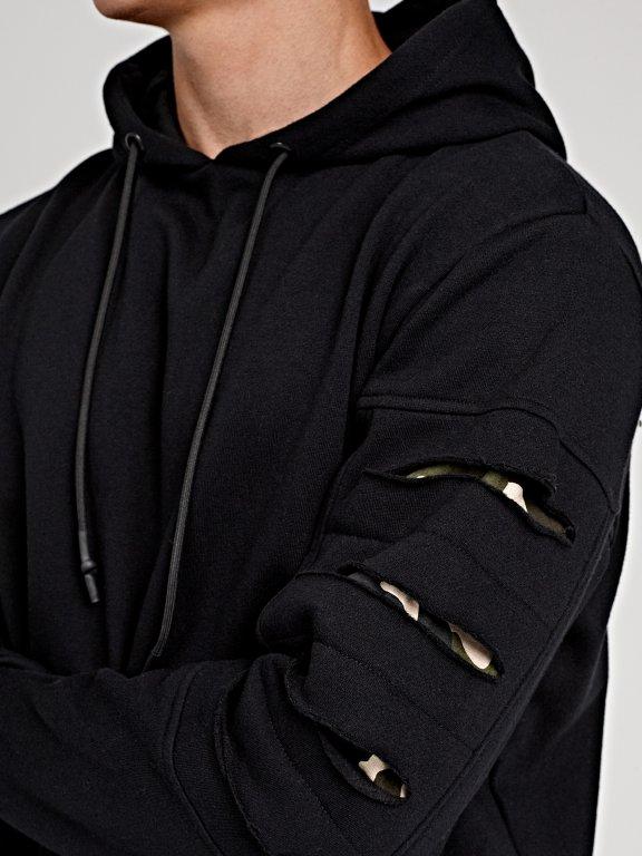 Distressed hoodie