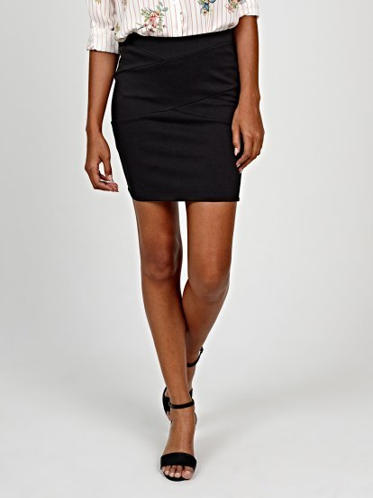 Paneled bodycon skirt