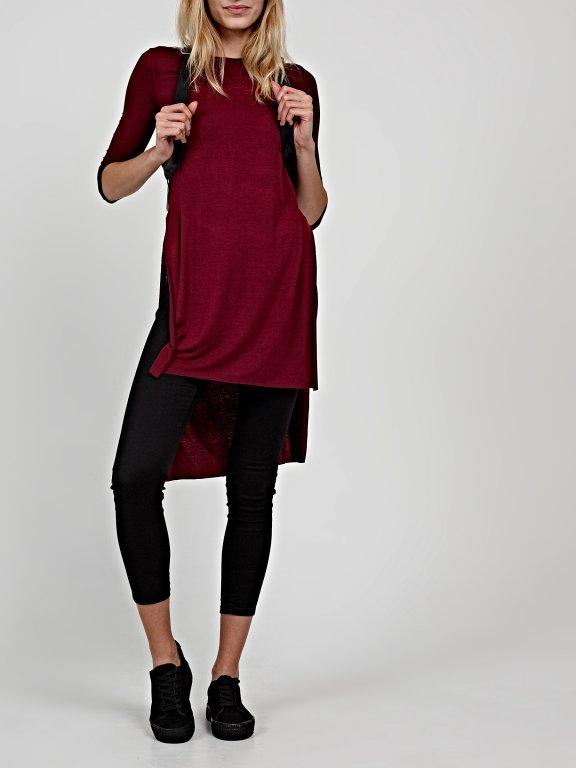 Basic longline viscose t-shirt