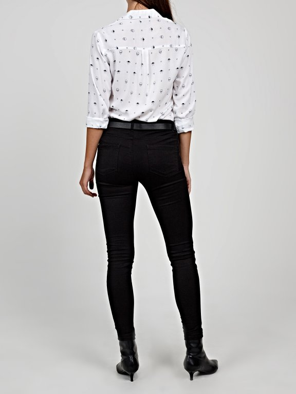 Viscose shirt with print