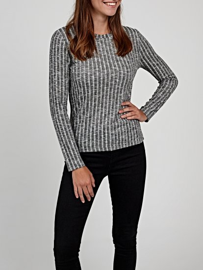 Basic rib-knit jumper