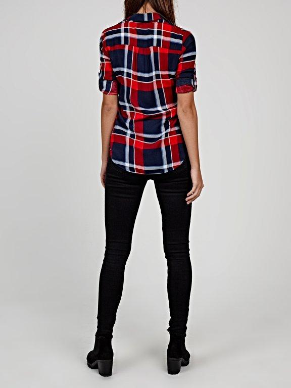 Plaid viscose shirt
