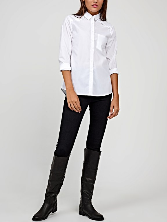 Classy shirt with pearls