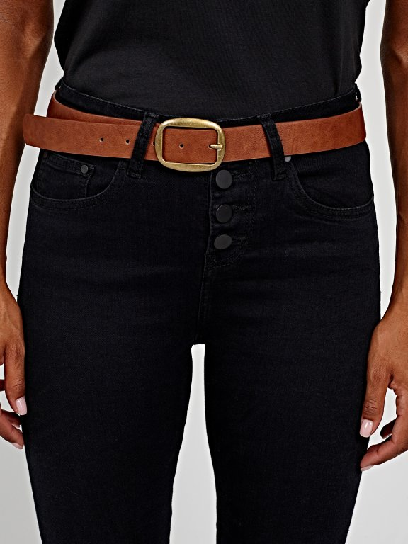 High-waist skinny jeans in black wash