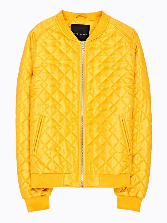 Light padded quilted bomber jacket