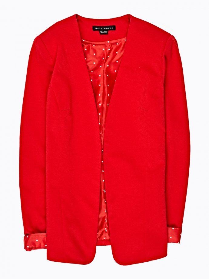 Polka dot lined blazer