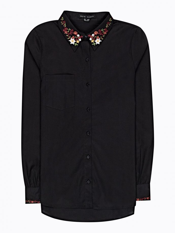 Cotton shirt with embroidery details