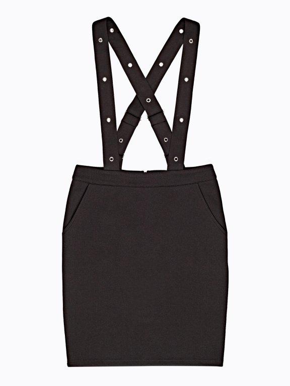 Mini skirt with braces