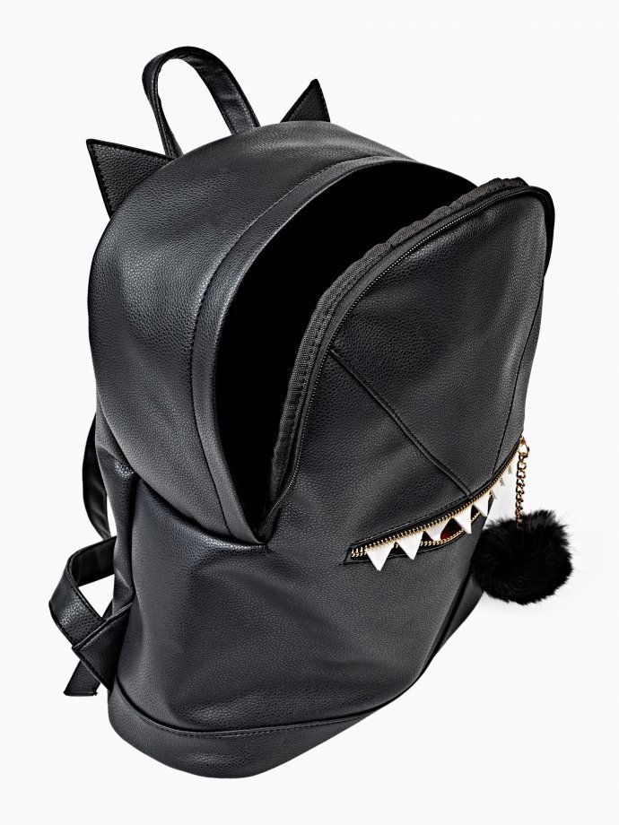 BACKPACK WITH POM POM AND TEETH