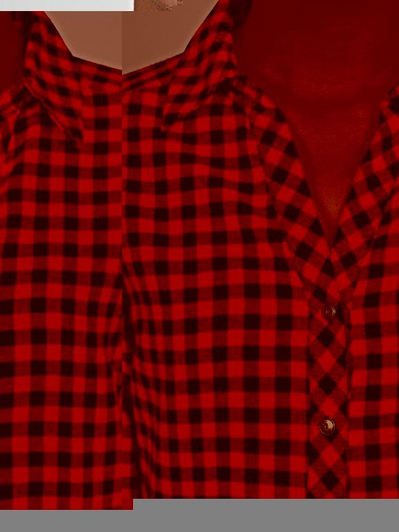 Longline cotton gingham shirt