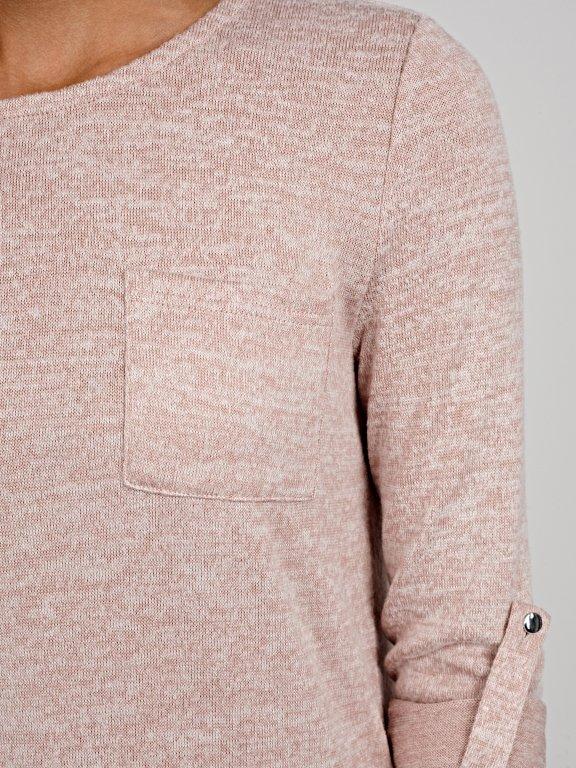 Longline jumper with pocket