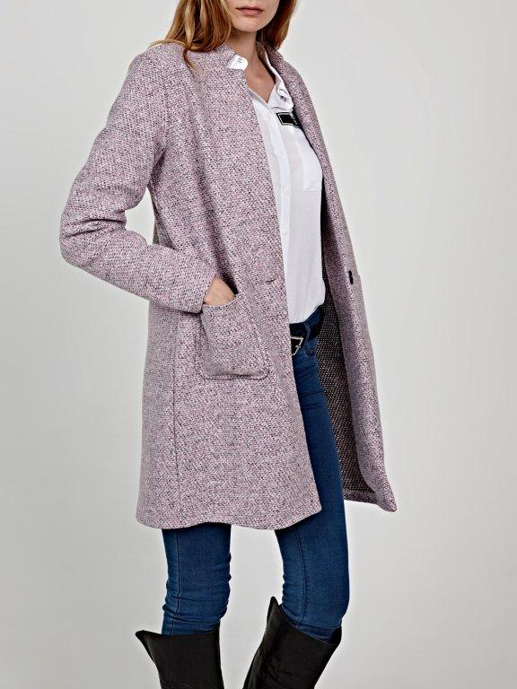 Longline marled blazer with pockets
