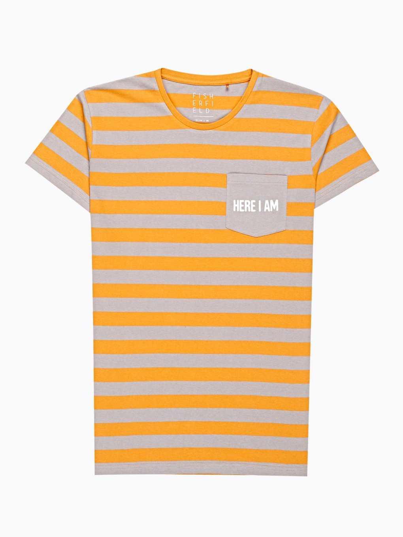 Pruhované tričko s náprsným vreckom