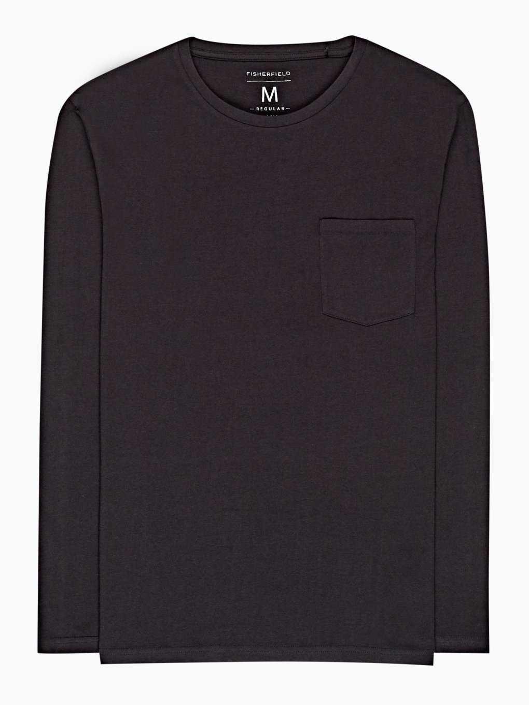 Basic dżersejowa koszulka z kieszenią na piersi