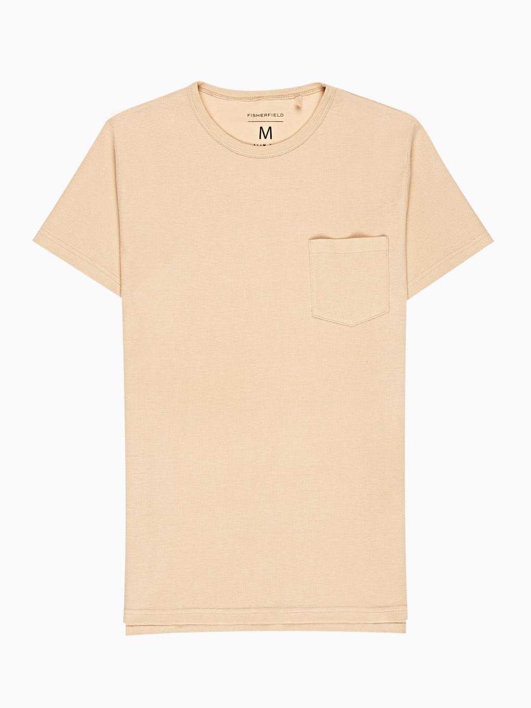 Vafľové tričko s náprsným vreckom