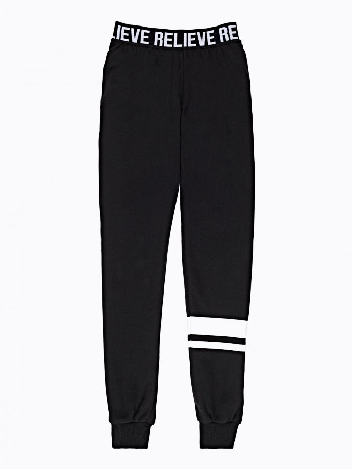 SWEATPANTS WITH PRINT ON WAIST BAND
