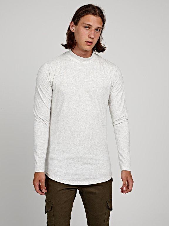 LONG SLEEVE HIGH NECK T-SHIRT