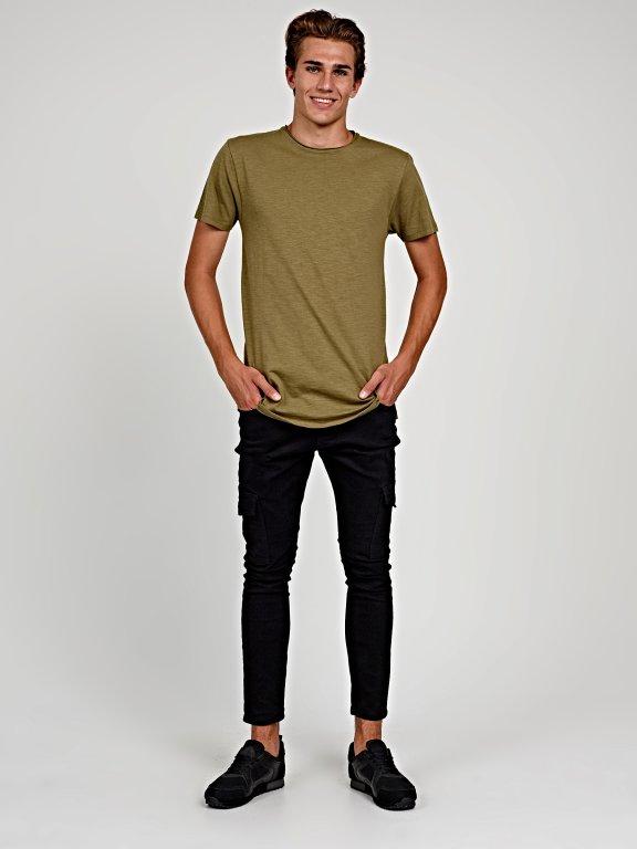 Longline slub jersey t-shirt