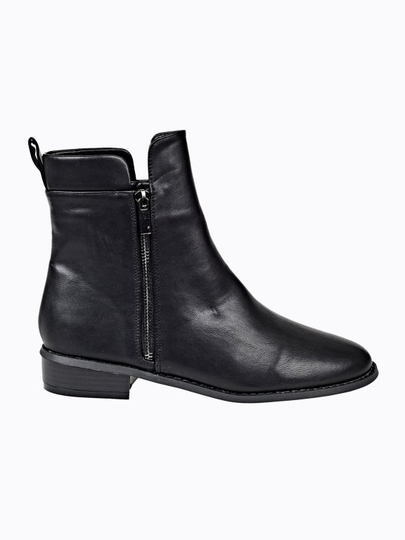Ankle boots with zipper detail