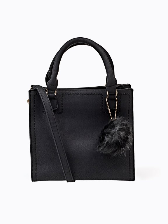 Tote bag with pom