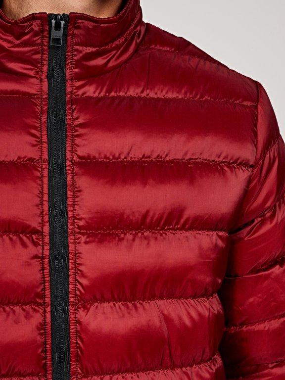 Basic quilted light padded jacket
