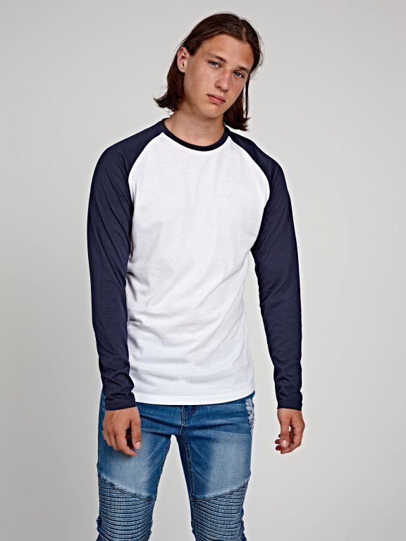 JERSEY T-SHIRT WITH CONTRAST SLEEVE