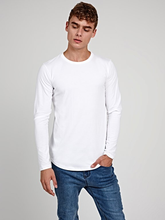 Basic stretch slim fit t-shirt