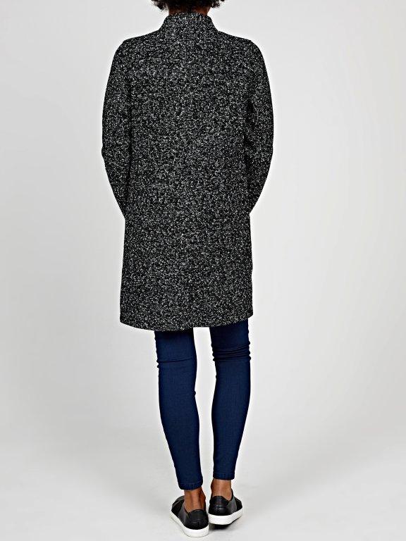 Marled blazer with pockets