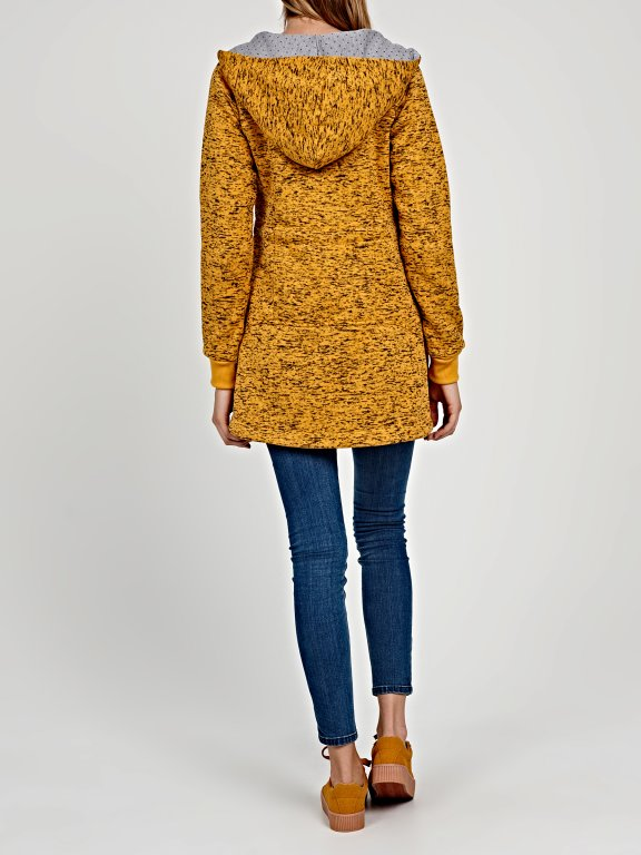 Knitted parka with hood