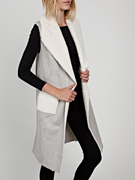 Pile lined combined waistcoat