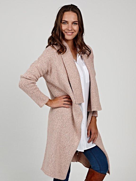 Longline cardigan in wool blend
