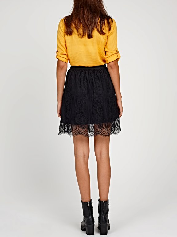 A-LINE LACE SKIRT